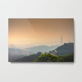Chi Nan Temple in hills of Maokong, Taipei, Taiwan Metal Print