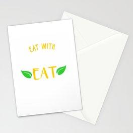 Eat with intelligence. Eat organic Stationery Cards