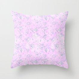 Flying Phallus Print Throw Pillow