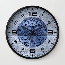 Classic Blue Swirls 16 Wall Clock