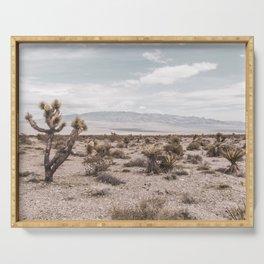 Vintage Desert Hombre // Cactus Cowboy Mojave Landscape Photograph Sunshine Hippie Mountain Decor Serving Tray