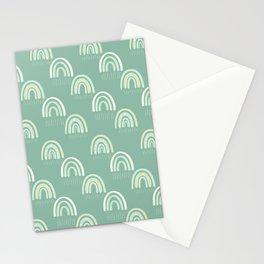 Green Boho Rainbow Stationery Cards