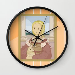 Lady with Unicorn by Raphael Wall Clock