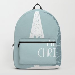 Merry Christmas Winter Trees Backpack