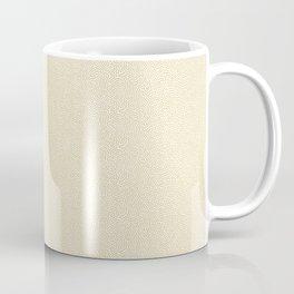 Making Marks Textured Surface White/Mustard Coffee Mug