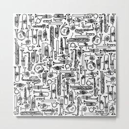 Horns B&W II Metal Print