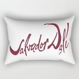 stylized signature of Salvador Dali Rectangular Pillow