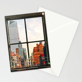 New York City Window #3 | Colorful Cityscape Stationery Cards