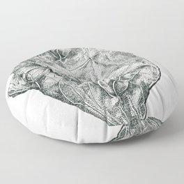 'Luci di Nara' (Sculpture by Igor Mitoraj) Stippling Pen Drawing Floor Pillow