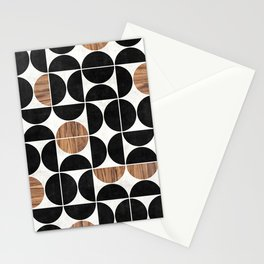 Mid-Century Modern Pattern No.1 - Concrete and Wood Stationery Cards