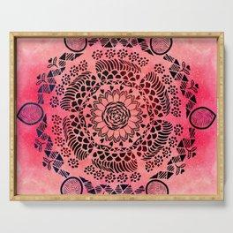 Pink Galaxy Mandala Serving Tray