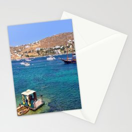 Mykonos, Greece Ocean Relaxing View Stationery Cards