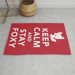 Keep Calm And Stay Foxy Rug