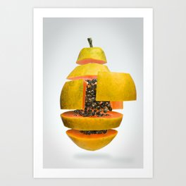 Flying Papaya Art Print