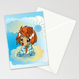 Cute ginger haired baby with a carrot Stationery Cards