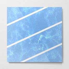 Blue Granite Metal Print