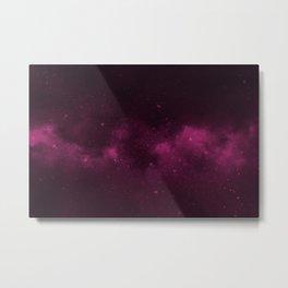 Fascinating view of the pink cosmic sky Metal Print