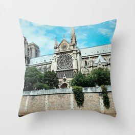Notre Dame River Point Throw Pillow