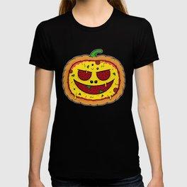Pizza Halloween - Funny Pumpkin Pizza Face T-shirt