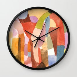 "Paul Klee ""Movement of Vaulted Chambers 1915"" Wall Clock"