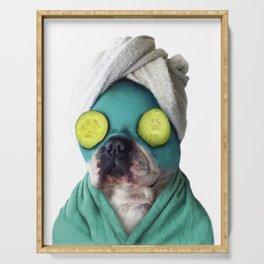 Dog SPA Art Print Serving Tray