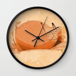 Zen Brush peace cat Wall Clock