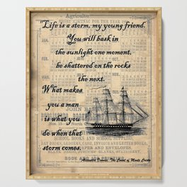 Count of Monte Cristo quote Serving Tray