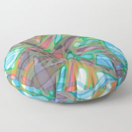 Colorful Abstract Stained Glass G299 Floor Pillow