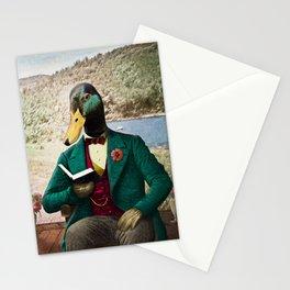 Monsieur Mallard Reading an Improving Book Stationery Cards