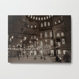"Inside Sultan Ahmed Mosque (""Blue Mosque"", Istanbul, TURKEY) Metal Print"