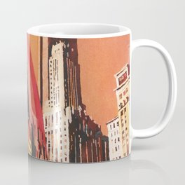 Cloud Gate (Chicago Bean) statue in Millennium Park in downtown Chicago, ILL at dusk. Coffee Mug