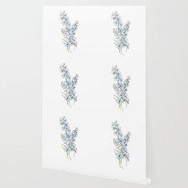 Blue Delphinium Flowers Wallpaper
