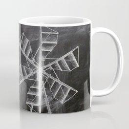 steampunk western country chalkboard art agriculture farm windmill patent print Coffee Mug