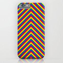 Gay Pride Flag Rainbow Chevron Stripe iPhone Case