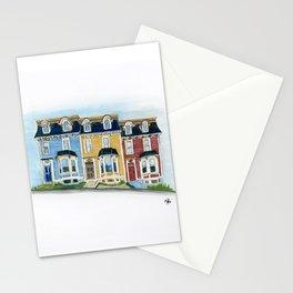 Jellybean Row - Newfoundland houses, buildings Stationery Cards