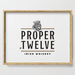 Proper Twelve Irish Whiskey Logo Serving Tray