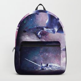 Space Sloth On Unicorn - Sloth Pizza Backpack
