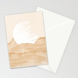 The moon on desert mountains modern Stationery Cards