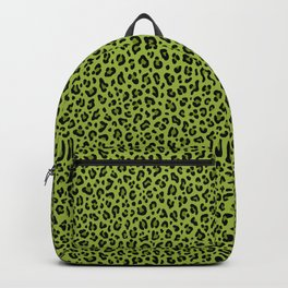 PSYCHOBILLY GREEN LEOPARD PRINT – Lime Green | Collection : Leopard spots – Punk Rock Animal Prints. Backpack
