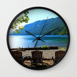 Adirondack Chairs at Lake Cresent Wall Clock