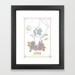 Libra Zodiac Series Framed Art Print