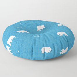 Polar Bears Pattern Floor Pillow