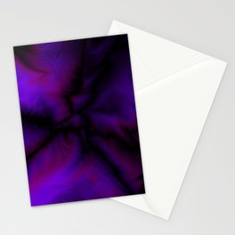 Crossing sapphire lightning bolts of light from flowing galaxies to parallel ones with dark glitteri Stationery Cards