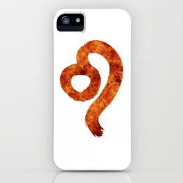Leo.The horoscope sign. iPhone Case