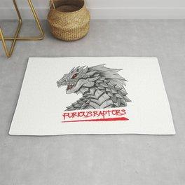 Furious Raptors Rug