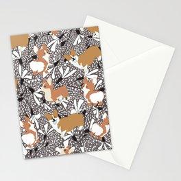 Corgi dogs Stationery Cards