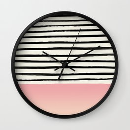 Blush x Stripes Wall Clock
