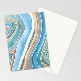 Flowing - Abstract Watercolor/ Acryl Stationery Cards