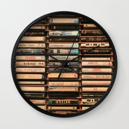 Vintage Cassettes (Color) Wall Clock