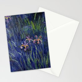 Irises No. 2 still life painting by Claude Monet Stationery Cards